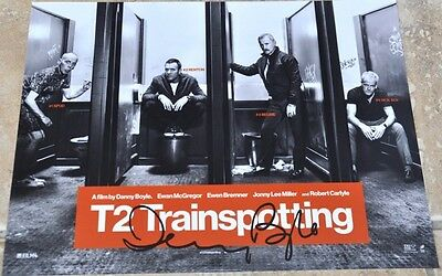 "T2 Trainspotting 2 10.5""x 8"" Colour Photo Signed By Danny Boyle Director"