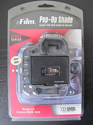 Delkin Pop Up Shade Canon EOS 30D Clearly View Your Screen & Protect LCD