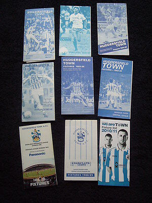Huddersfield Town Fixture List Cards - 1981 To 2011 x9