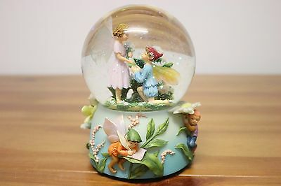 musical fairy/pixie male child proposing - girl fairy/pixie snow globe waterball