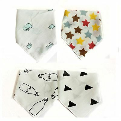 Waterproof Soft Triangle Bibs Baby Saliva Towel Gauze Cotton Feeding Bandana