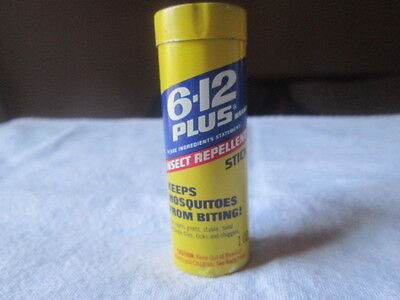 Vintage 6-12 Plus Insect Repellent Stick Tin With Contents Advertising