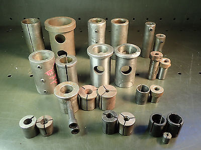 """24 Piece Lot of CNC Turret Lathe & Drill Bushings Sleeves: Up to 2-1/2"""" OD, Used"""