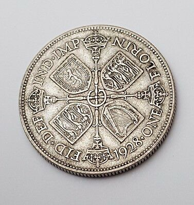 1928 - Silver - Two Shillings / Florin - Great Britain - King George V - UK Coin