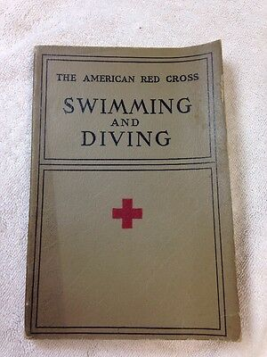 "vintage 1938 AMERICAN RED CROSS ""SWIMMING AND DIVING ,BOOK"