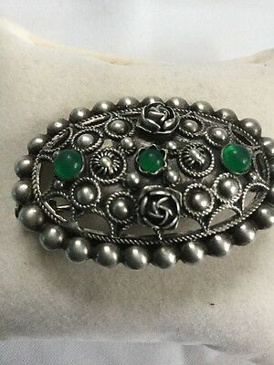 broche ancienne argent Massif 800