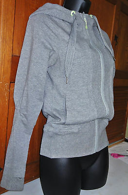 Authentic Lululemon Size 4 Light Gray Stretched Cotton with Hood