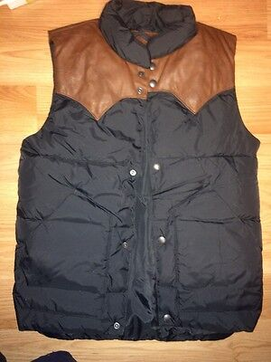EUC Boys Gap Kids Puffer Vest Jacket Coat 10 Large 8 Black Leather