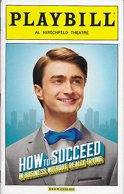 Playbill - HOW TO SUCCEED IN BUSINESS WITHOUT REALLY TRYING - Daniel Radcliffe