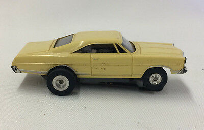 Vintage Aurora T-Jet Ford Galaxie - Yellow - HO Scale Slot Car