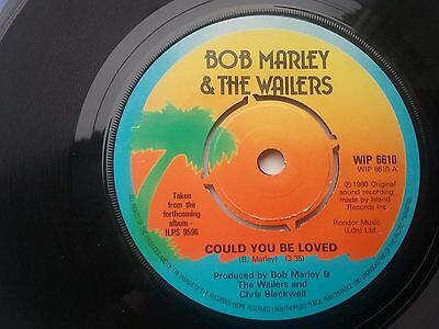 """Bob Marley:  Could you be loved  UK    1980  7"""""""