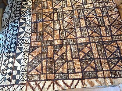 Rare Vintage Hand Painted Tapa Cloth