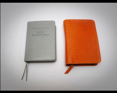 GENUINE LEATHER NEW WORLD TRANSLATION BIBLE COVER, Jehovah's Witness Gift