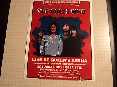 Vintage Guess Who Queen's Arena Reproduction Concert Poster 11 x14 B Cummings
