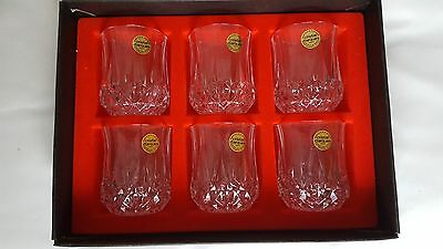 Set if 6 Boxed D'arques Genuine Lead Crsytal whisky tumblers