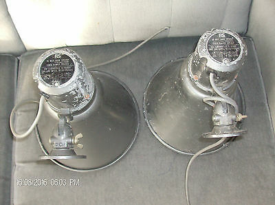 1pr vintage RS adjustable from 2w to 30w  outside PA speakers military 1940s