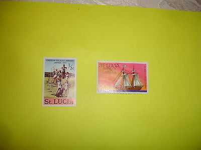 postage stamps of  ST LUCIA