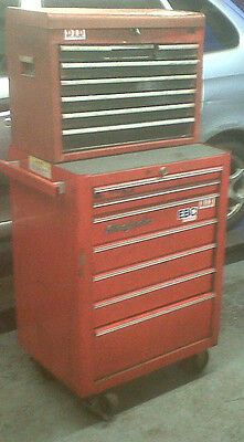 Snap On 7 Drawer Red Roll Cab Tool Box Chest Mechanic