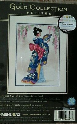 The Gold Collection Elegant Geisha Chart with Threads