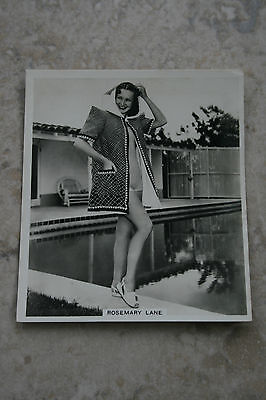 """""""Rosemary Lane"""" Hollywood Actress Photocard """"Packed with KINGS the LARGER cigs"""""""