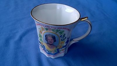 Bone China Mug To Celebrate The Queen Mothers 90th Birthday 1990 by Queens China