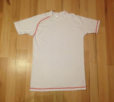 B'TWIN Mens Small Red & White 300 Short Sleeve Cycling Base Layer