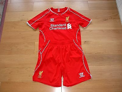 Warrior Liverpool Home Football Kit/small shirt & medium Shorts/Gerrard 8/adult