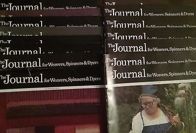 The Journals for Weavers,Spinners & Dyers from 1986 - 1989