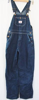 """W26"""" Vintage 70's Mens Roundhouse Dungarees Bib Brace Overalls USA Workwear L372"""
