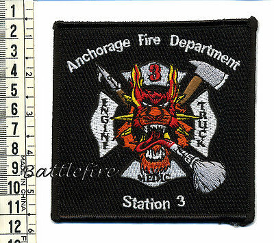 Anchorage Fire Department Patch - Station 3 - Alaska - Usa