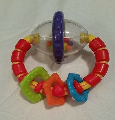 Bright Starts- Grab And Spin Rattle Teether Toy