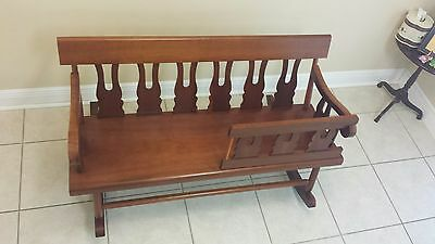 Mammy Bench Rocker Rocking Southern Settee Solid Wood