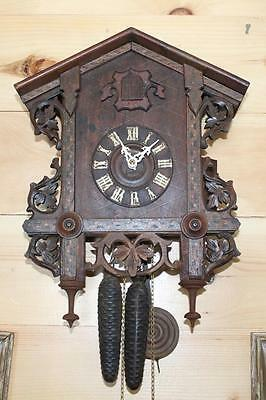 Antique Railroad Cuckoo Clock ~ American Cuckoo Clock Co. ~