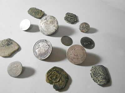 Excellen, Lot of coins Epoca Colonial spanish, silver, copper