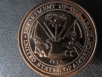 Dept of the Army USA 1 oz copper round with coin capsule