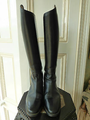 Cavallo black leather riding boots,high dressage arch 5.5(fit UK6) 46 36 square