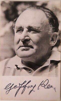 Geoffrey Keen (1916-2005) signed autographed B/W photograph M From James Bond