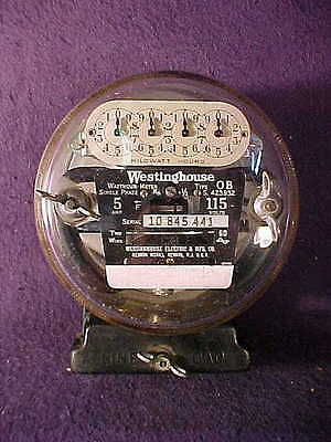 Vintage WESTINGHOUSE Electric Meter~Type OB~5 Amp~115 Volts Unused/Dead Stock