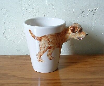 Terrier Dog Ceramic Coffee Mug Coffee Cup Blue Witch Border Terrier 3D Hand Craf