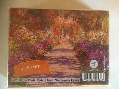 Double Pack Of Playing Cards By Piatnik Claude Monet New And Sealed