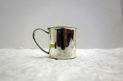 Vintage Lunt Teddy bear sterling silver baby cup