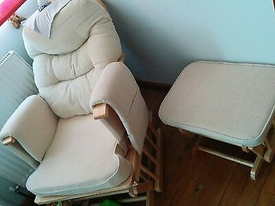 glide nursing chair and stool