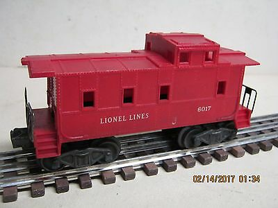 "LIONEL ""0"" or 027 #6017 ""LIONEL LINES"" RED SP TYPE CABOOSE-NICE!"