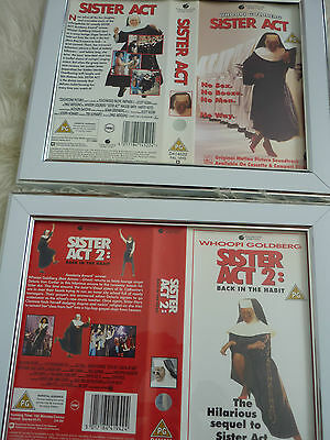 Whoopi Goldberg Sister act 1 & 2 vhs sleeve Framed Poster B Movies Photo Dvd