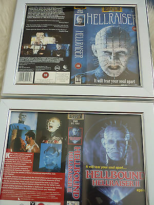 Hellraiser & Hellbound Clive barker vhs sleeve Framed Poster B Movies Photo Dvd