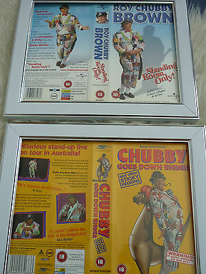 Roy chubby brown standing & Down vhs sleeve Framed Poster B Movies Photo Dvd