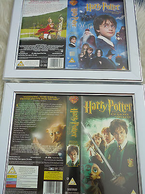 Harry potter year one & Two vhs sleeve Framed Poster B Movies Photo Dvd