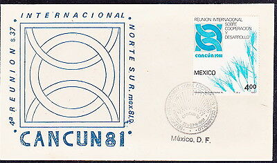 """MEX  1981 """"Cancun 81 reunion"""" FIRST DAY COVER W/SC#1256(PS315)"""