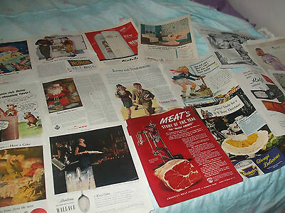 vintage ads, clippings,Sylvania bulbs,elsie the cow,norge,A&P.vicks ,coca cola