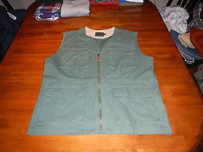 vintage chaps ralph lauren utility vest mens medium green fishing hunting rare